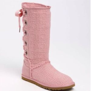 UGG HEIRLOOM LACE UP BOOTS